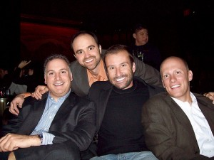 Joe (in orange) with David Bernstein (BtoB), Aaron Kahlow (OMS) and Jason Breed (NA)