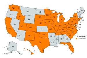 The Orange Effect Spreads Across the United States.